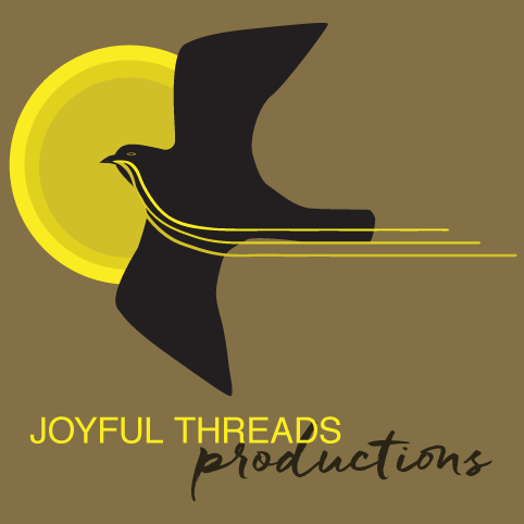 independent production, joyful, threads, productions, bird, black bird, sun, yellow, brown, black, company, film, editing, sound, creative